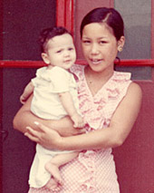 Tony and his mother in Taiwan in 1967.
